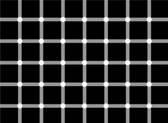 Ilusões de ótica preto e brancas