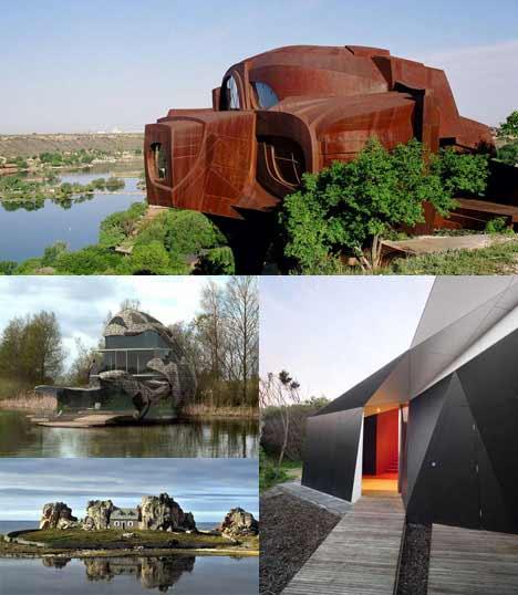 Casas incríveis com arquiteturas únicas