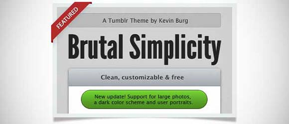 Brutal Simplicity tumblr theme