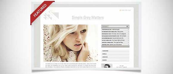GreyMatters tumblr theme