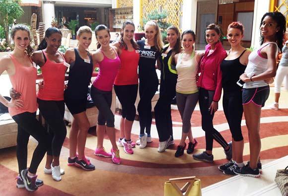 Candidatas a Miss Mundo 2012 na etapa Sports and Fitness