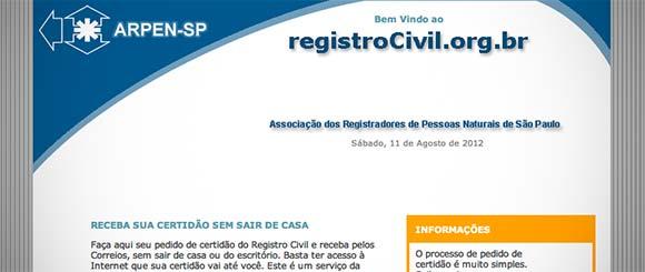 Certidão via internet em São Paulo