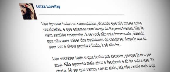 Polêmica sobre o Miss Rio de Janeiro 2012