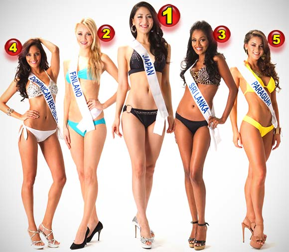 Miss Internacional 2012: Resultado Final