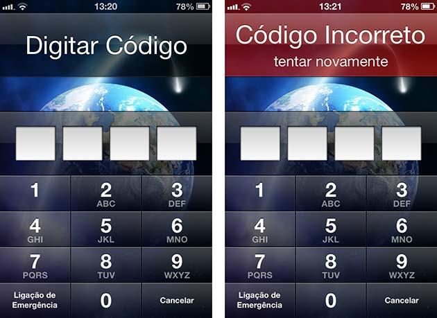 Privacidade do iPhone protegida por senha