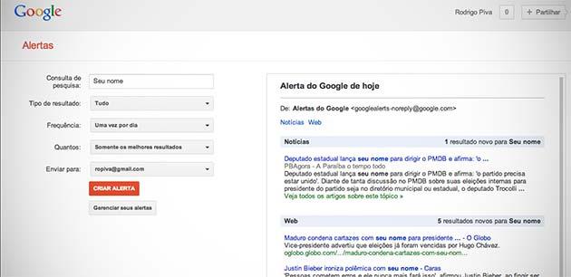 Monitore seu nome com a ajuda do Google