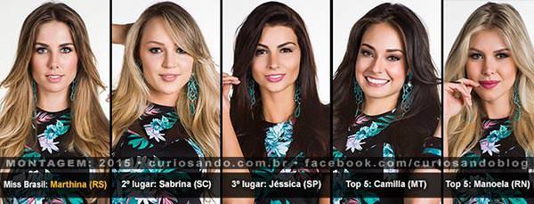 Resultado do Miss Brasil 2015