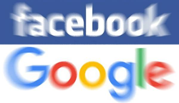 Logotipo Facebook e Google
