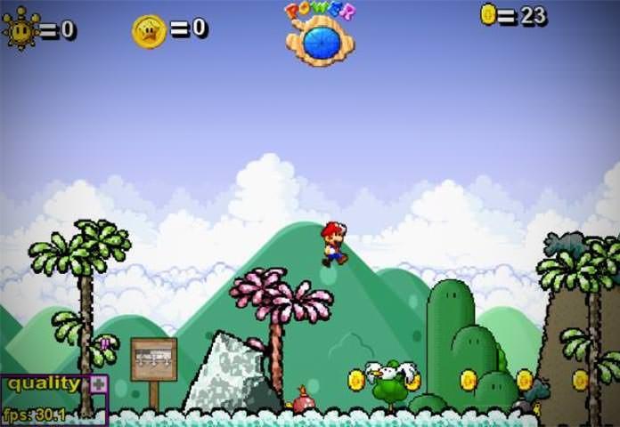 Tela do Super Mario