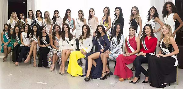 Foto das candidatas a Miss Brasil 2015