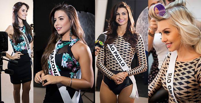Fotos oficiais e gravação de perfil do Miss Brasil 2015