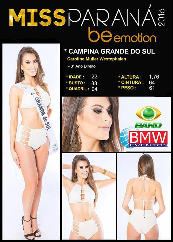 Miss Campina Grande do Sul 2016 - Carol Westphalen