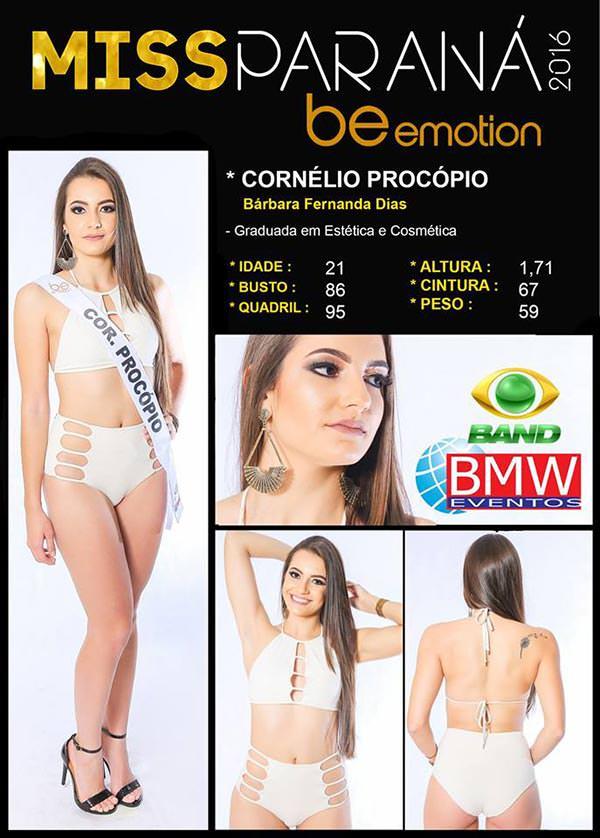 Miss Cornélio Procópio - Bárbara Fernanda Dias