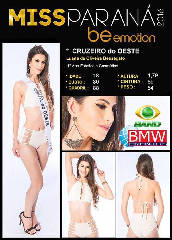 Miss Cruzeiro do Oeste - Luanna Bessegato