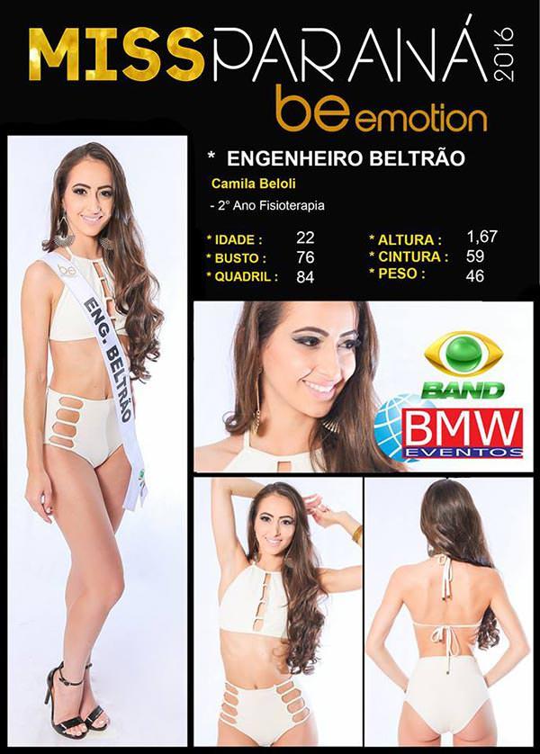Miss Engenheiro Beltrão - Camila Beloli
