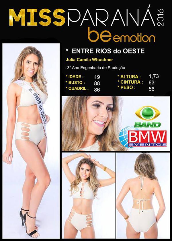 Miss Entre Rios do Oeste - Julia Wochner