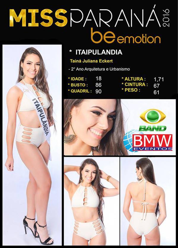 Miss Itaipulândia - Tainá Juliana Eckert