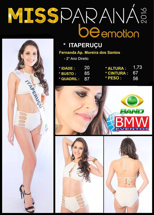 Miss Itaperuçu - Fernanda Aparecida Moreira dos Santos