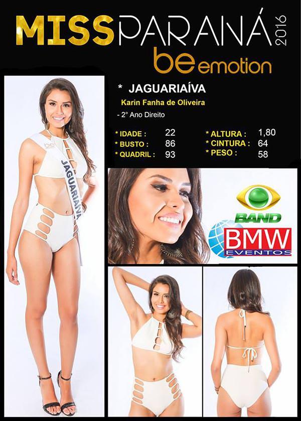 Miss Jaguariaíva - Karin Fanha