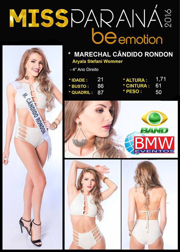 Miss Marechal Cândido Rondon - Aryala Stéfani Wommer