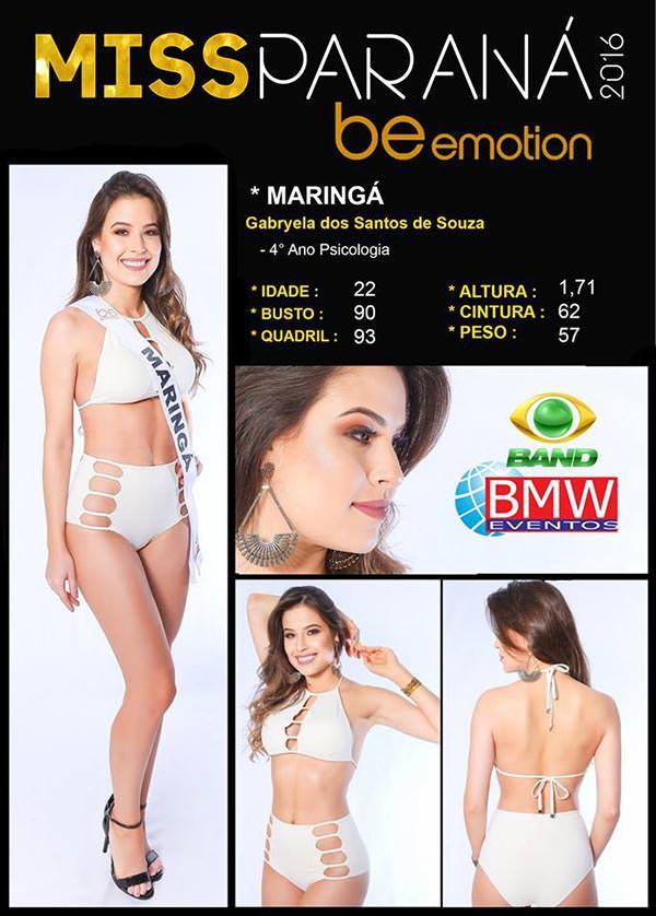 Miss Maringá - Gabryela Santos