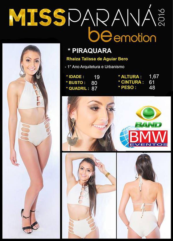 Miss Piraquara - Rhaiza Talissa de Aguiar Bero