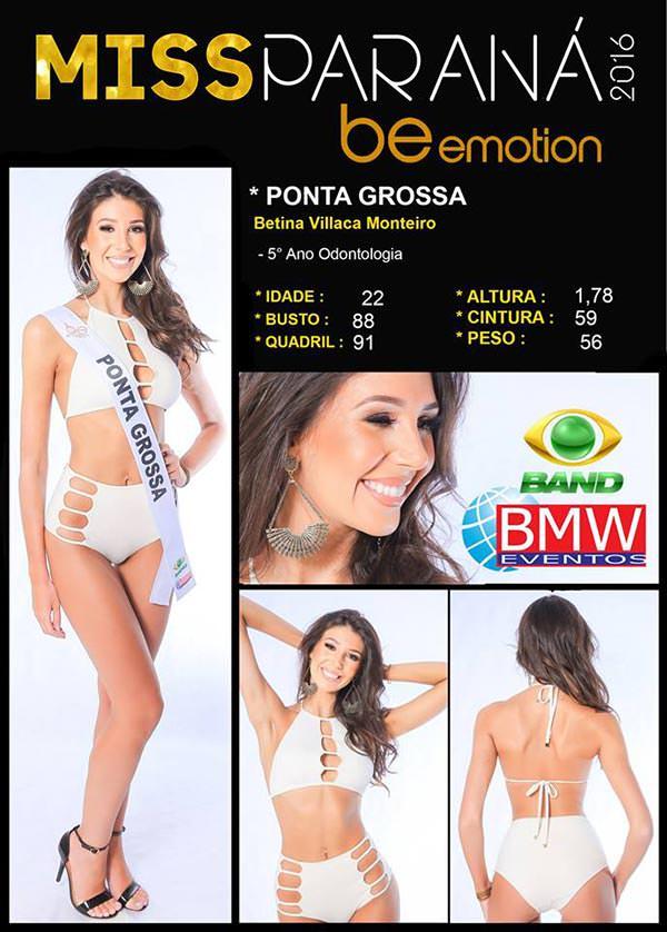 Miss Ponta Grossa - Betina  Villaca