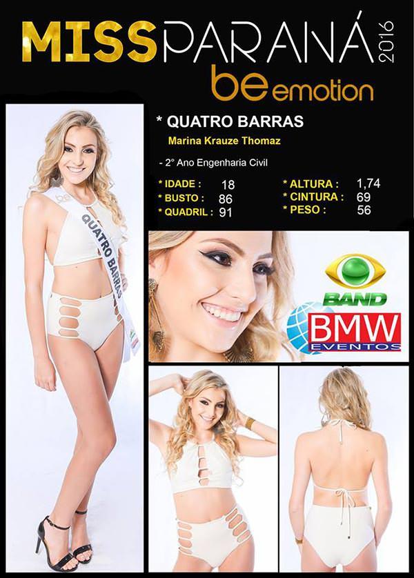 Miss Quatro Barras - Marina Krauze