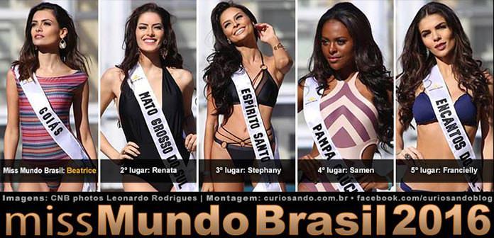 Resultado do Miss Mundo Brasil 2016