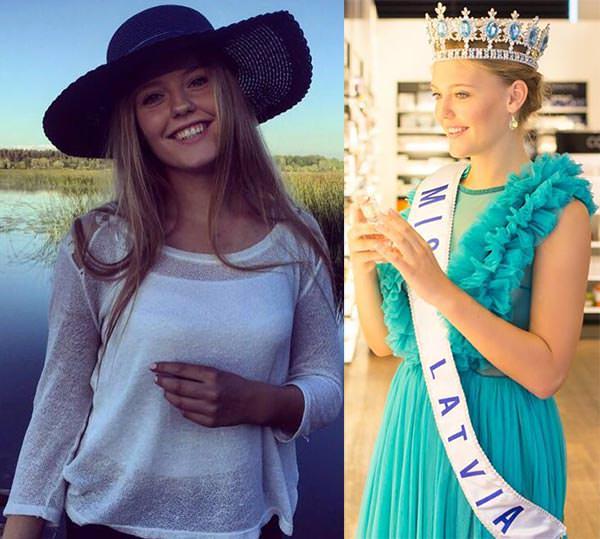Miss Mundo Letônia - Linda Kinca
