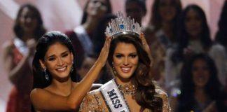 Iris Mittenaere sendo coroada Miss Universo 2016