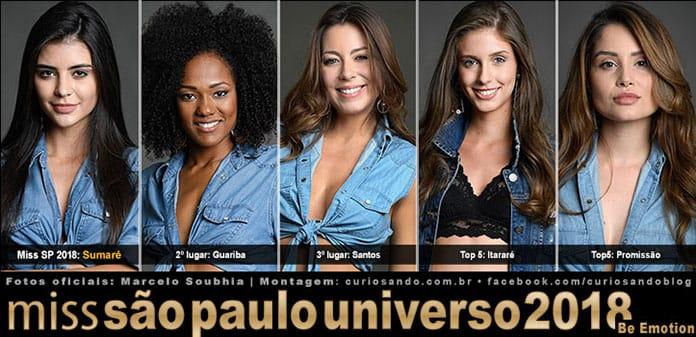Resultado final do Miss São Paulo 2018