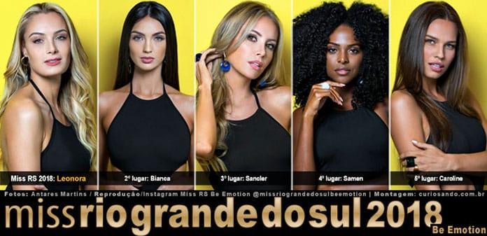 Top 5 do Miss Rio Grande do Sul 2018