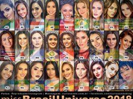 Fotos das candidatas do Miss Brasil 2018