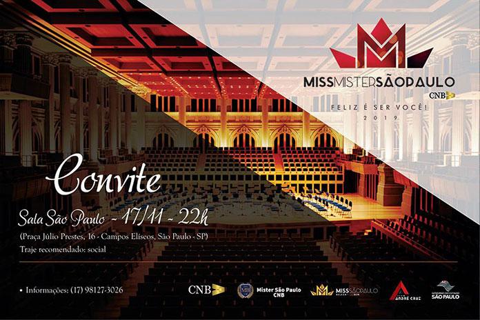 Convite Miss e Mister São Paulo 2019