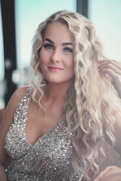 Foto da Miss Noruega - Helene Abildsnes