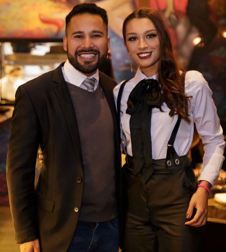 Paulo Filho e Lara Baumer